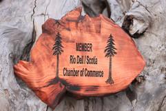 Live Edge Redwood Membership Plaque
