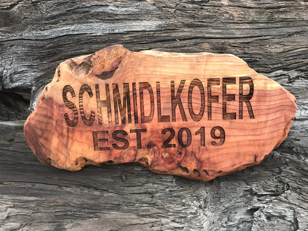 Redwood Live Edge Personalized Sign