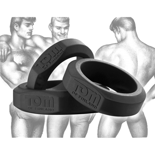 Tom of Finland - 3 Piece Silicone Cock Ring Set
