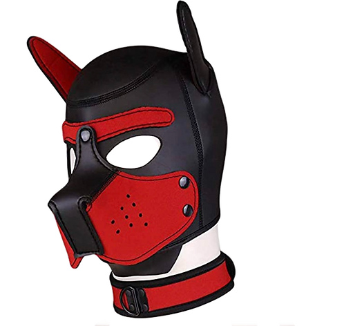 "Neoprene Puppy Hood ""Red"""