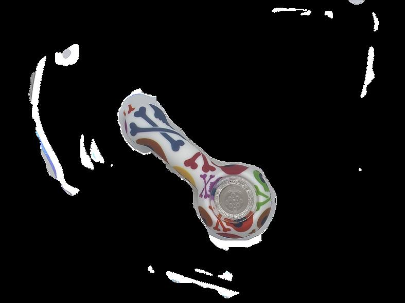 Silicone Smoking Pipe - White Skull Candy