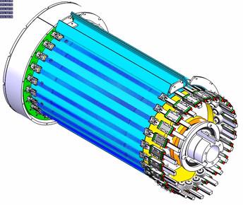 Rotatorisches Konzept für elastokalorisches Kühlen