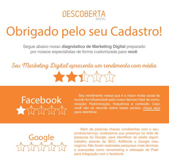 Diagnóstico | Descoberta Digital
