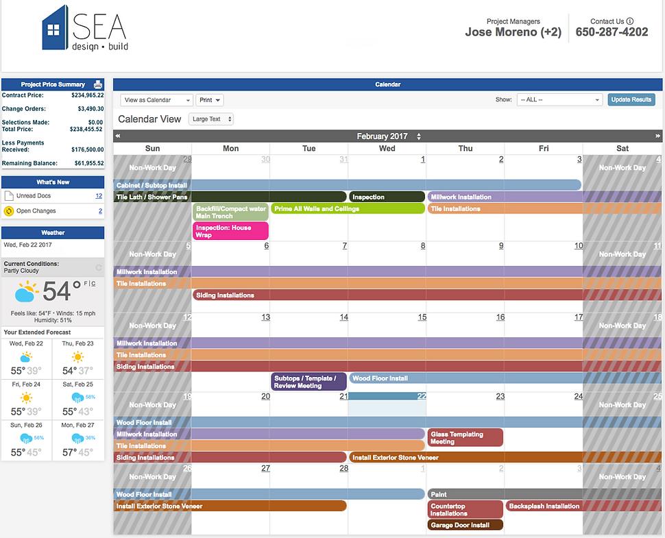 design build project managment software client portal