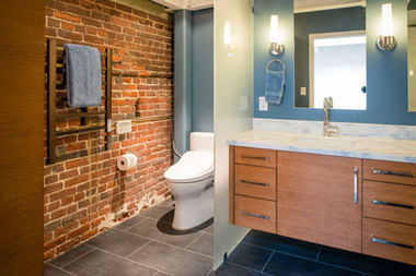 Bathroom remodel industrial design