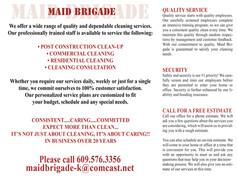 Maid Brigade Inside