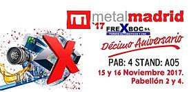 Logo Metal Madrid 2017 _ exposición tornos Frexboc