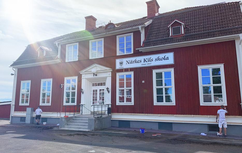 Målning av träfasader Nerikes Kils Skola