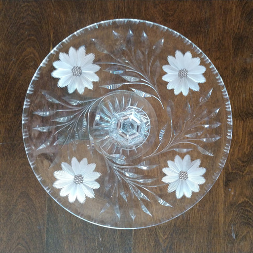 Crystal Floral Cake Stand