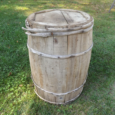 Large Rustic Barrel