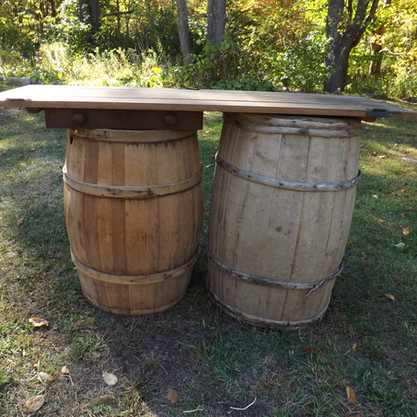 Whisky Barrel Display