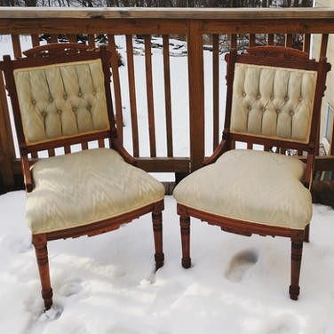 Powder Blue Sweetheart Chairs