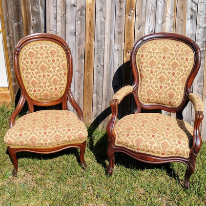 Floral Sweetheart Chairs