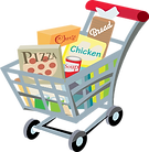 grocery cart vector.png