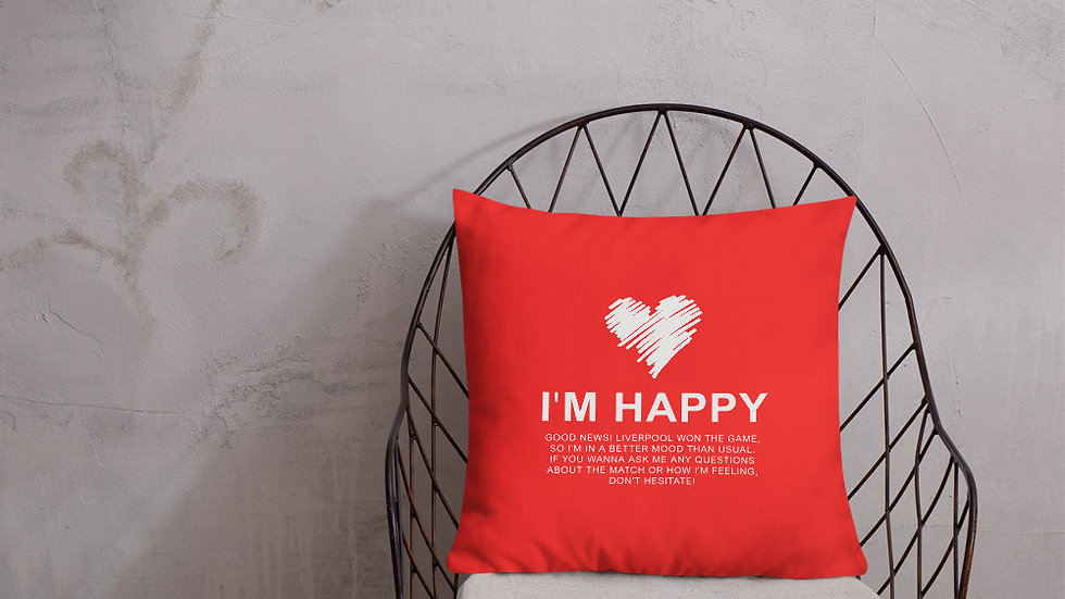 The perfect gift! A mood pillow for Liverpool supporters.