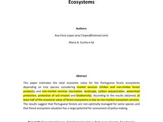 Valor Económico dos Solos Florestais e Agrícolas