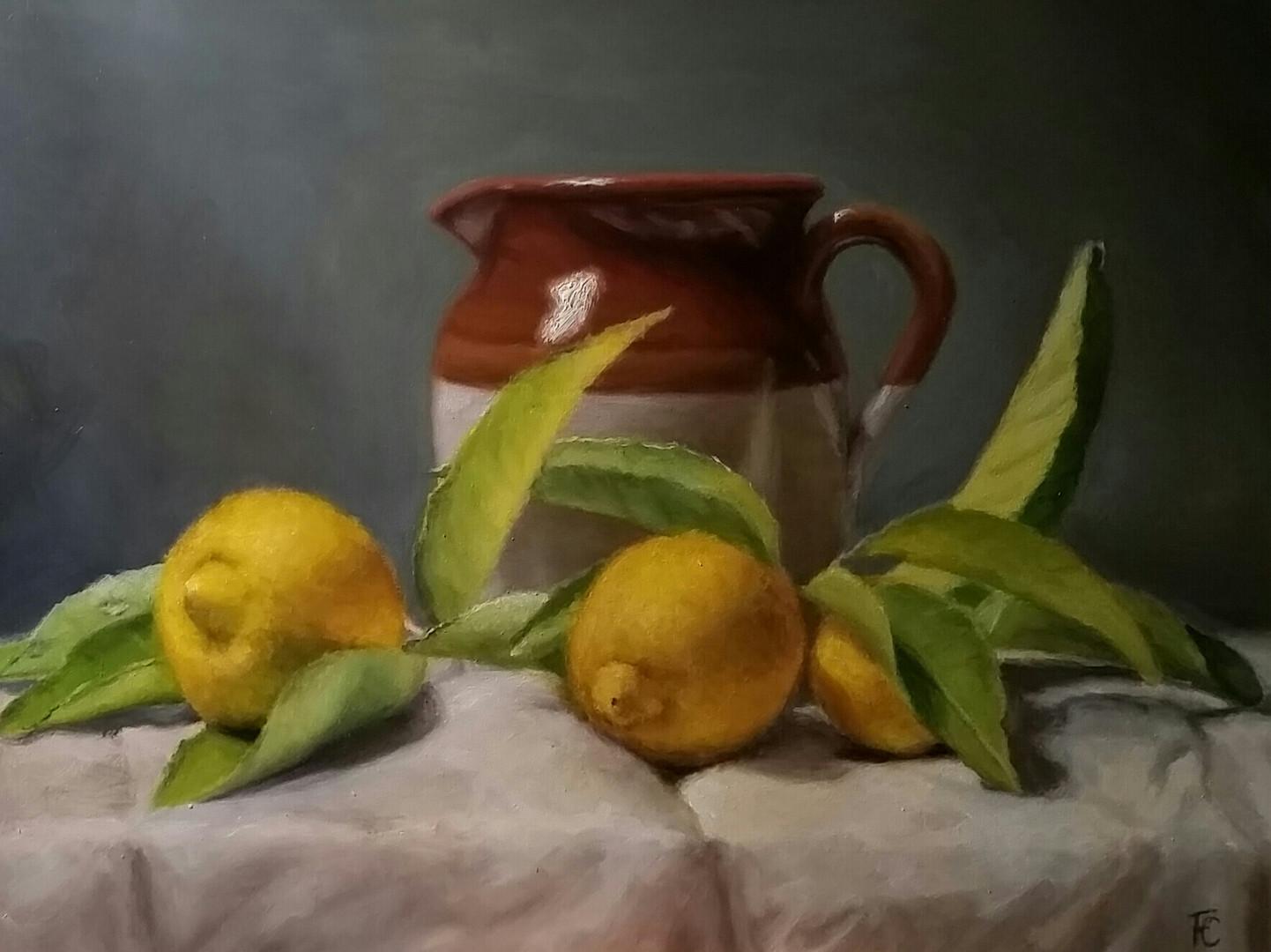Jug and lemons