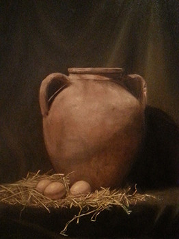 Amphora and eggs