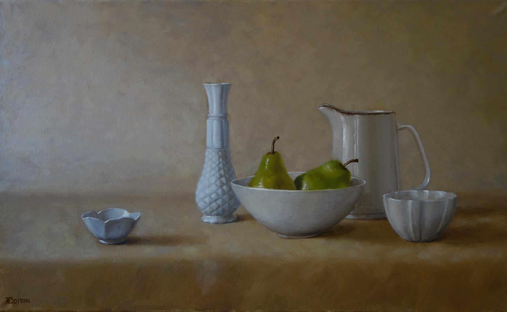 Pears in porcelain