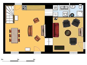 Room layout downstairs