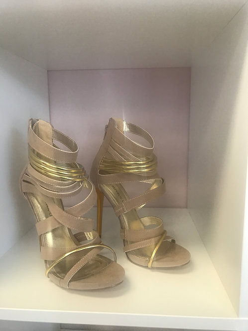 Nude/Gold High Heels