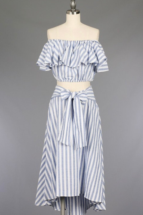 Blue/White Two Piece