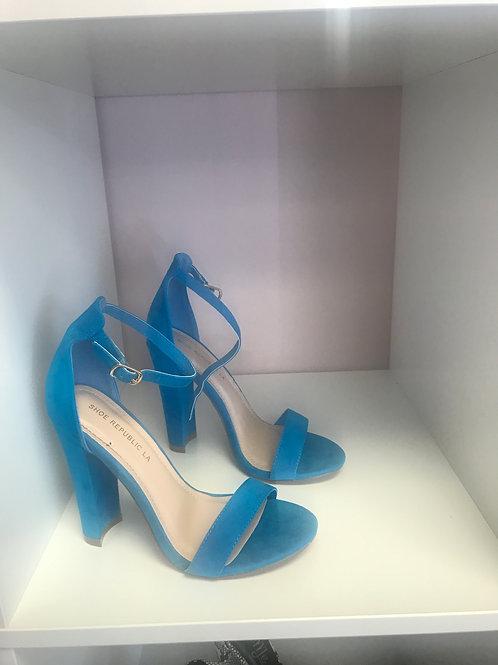 Turquoise Platform Heels