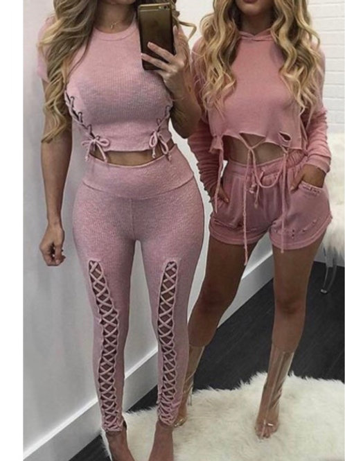 Pink Two Piece Short Set