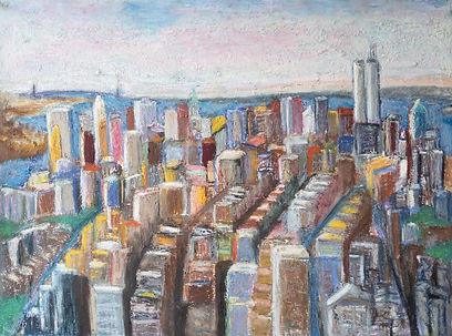 New York #35_22x30inches_Oil-stick-on-pa