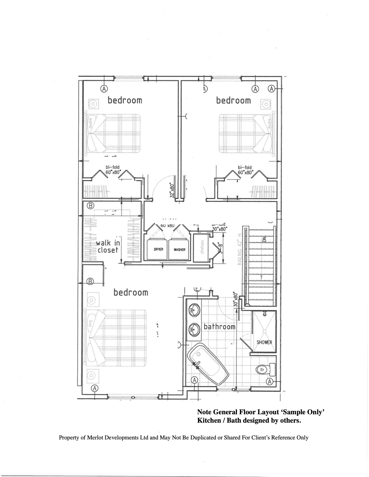Semi Detached Floor Plan - 2nd Level