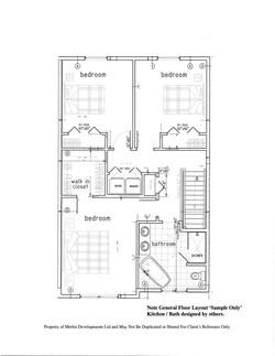 Semi Detached Floor Plan - 2nd Level