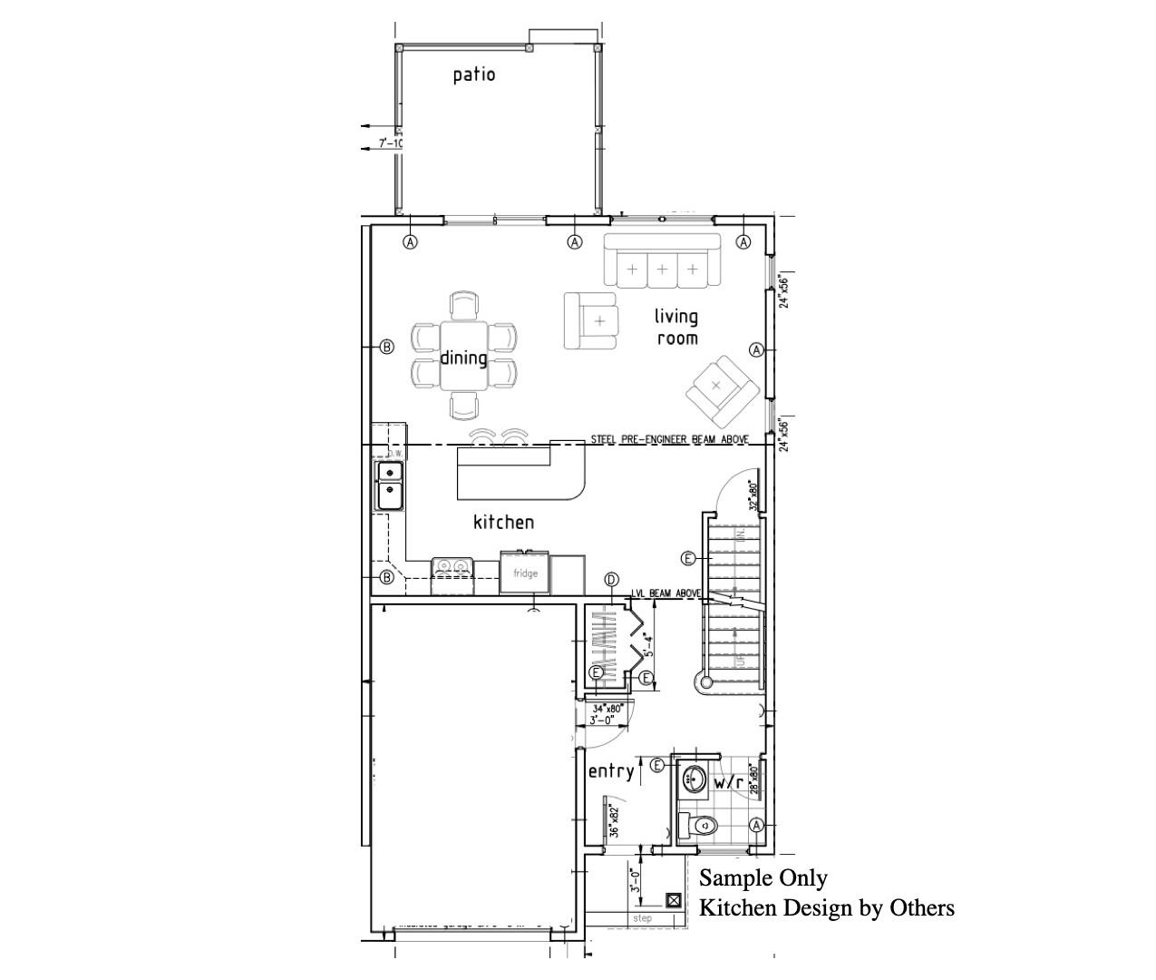 Semi Detached Floor Plan - Main Level.jp