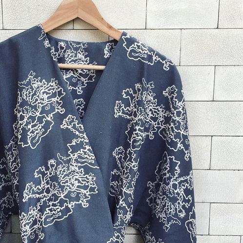 100% Shantung Silk Belted Wrap