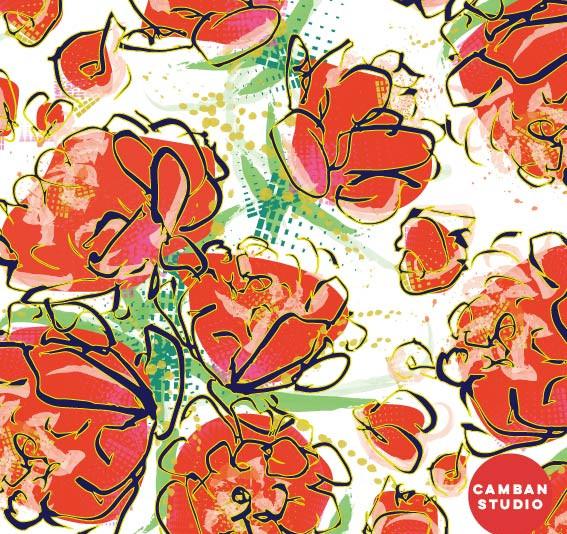 Pattern - 'Bloom' in White