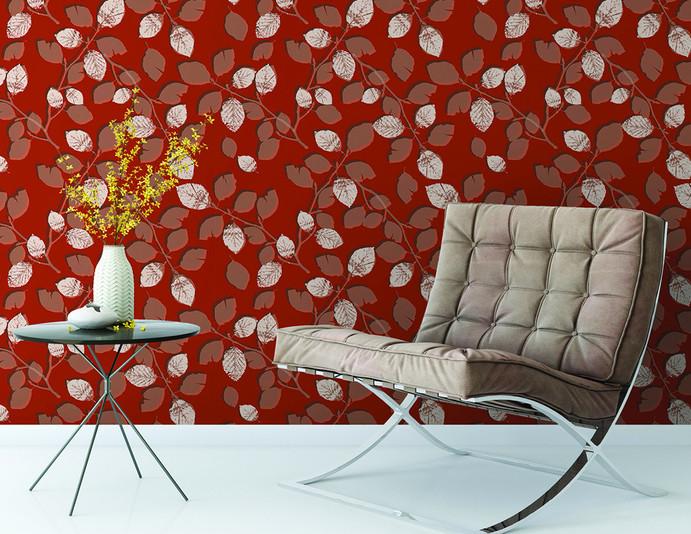 Wallpaper Concept - 'Copper Beech' in Rust