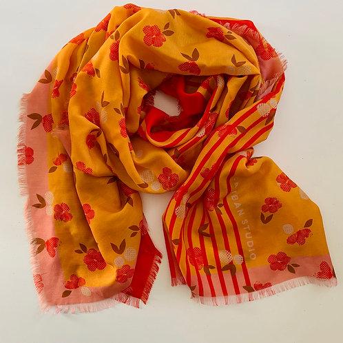 Blossom Silk/Wool Blend Scarf