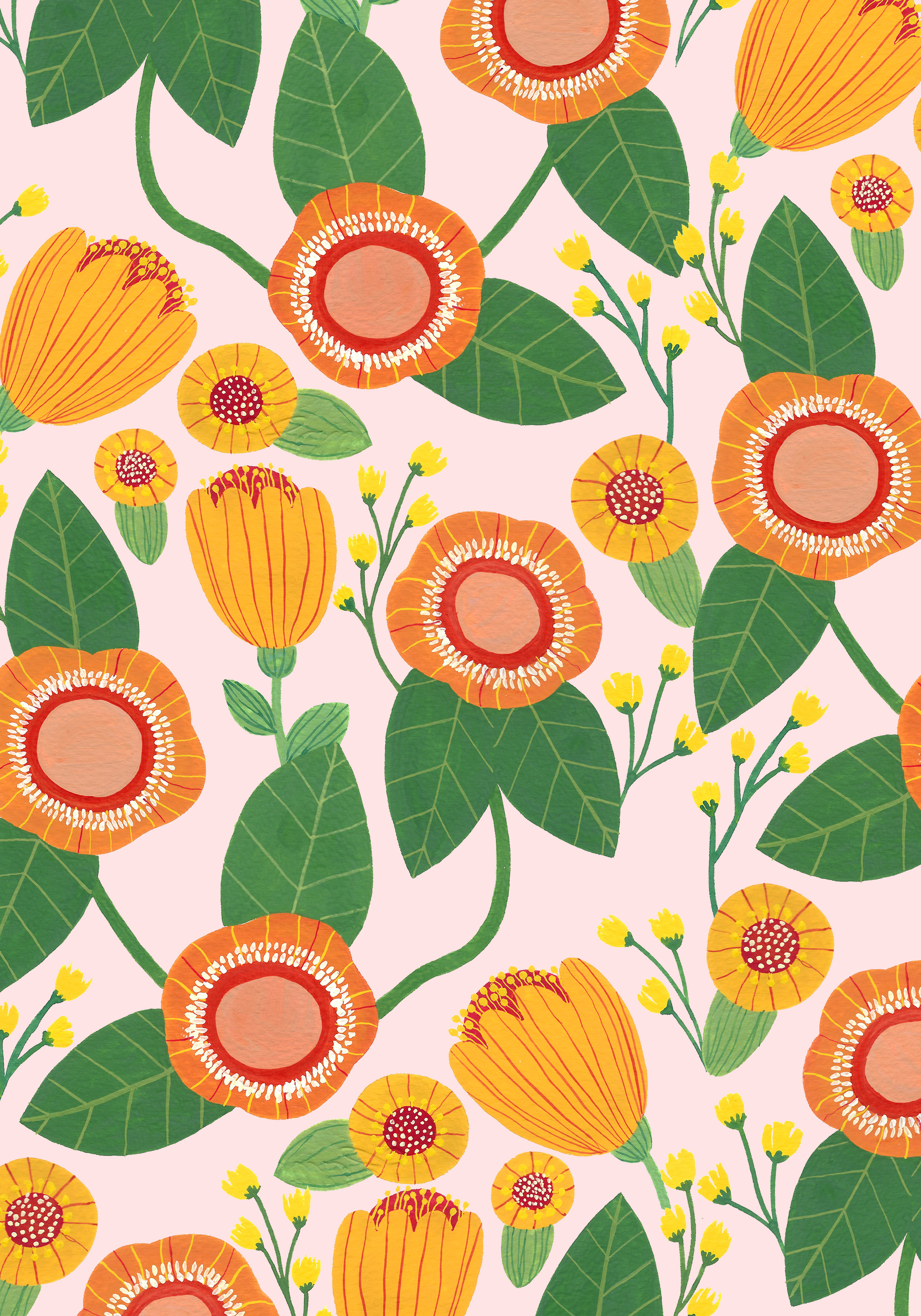 Birght Colored Floral Pattern