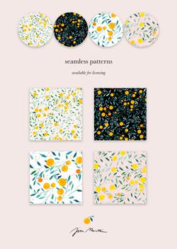 Oranges - Seamless Patterns