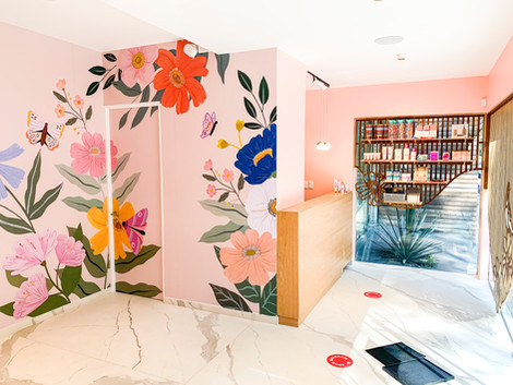 Wall Mural for Wax Revolution