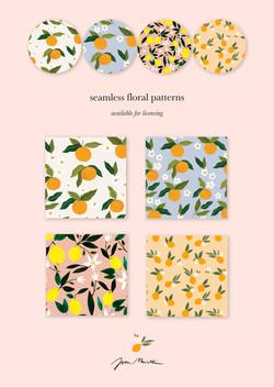 Seamless Fruit Patterns