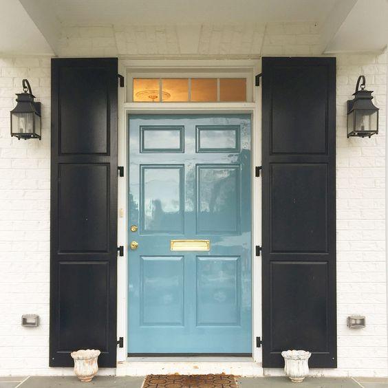 exterior door painted in high gloss