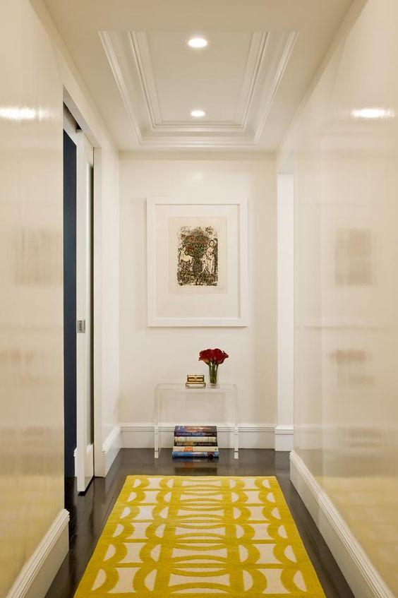 white gloss painted hallway