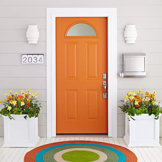 orange front door ideas