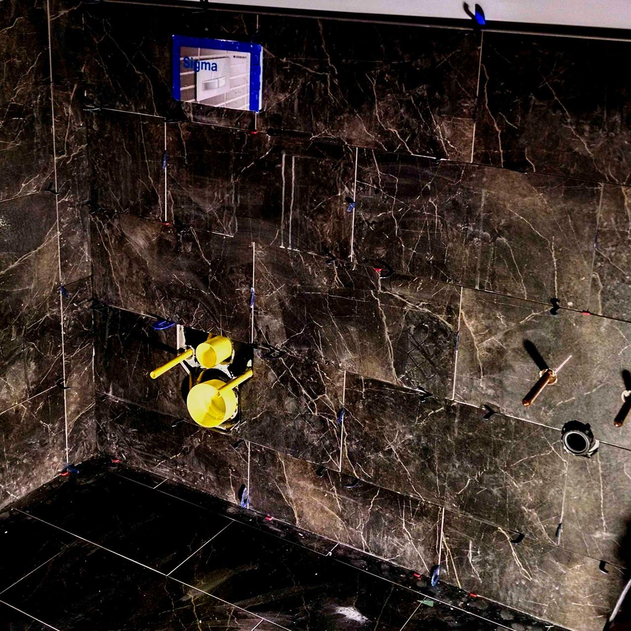 Dark marble tile