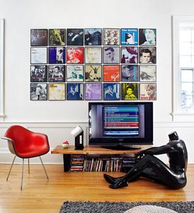records wall display
