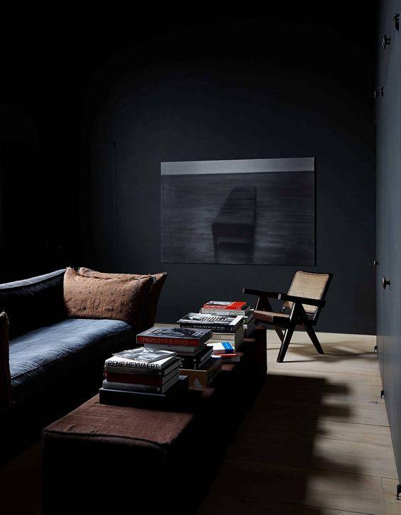 dark living room inspiration