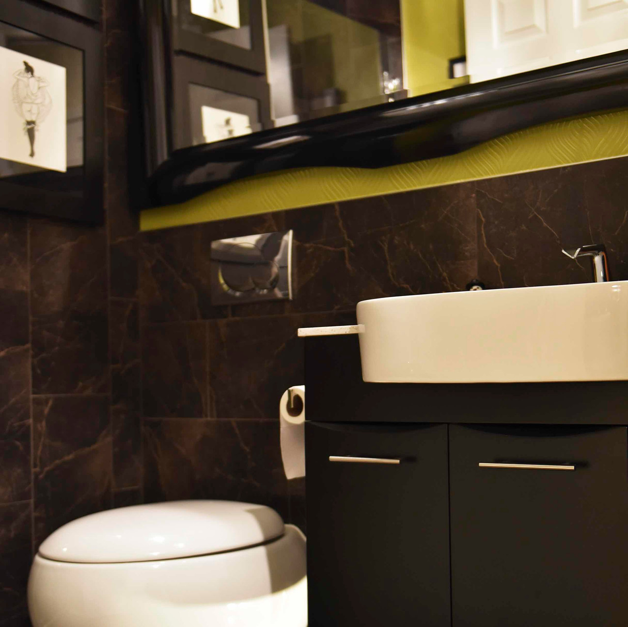 Wall mounted toilet