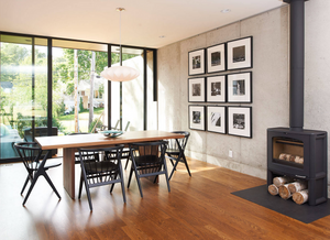 modern black and white gallery wall