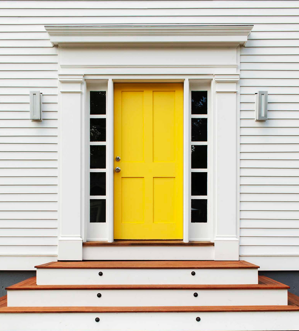 yellow front door inspiration