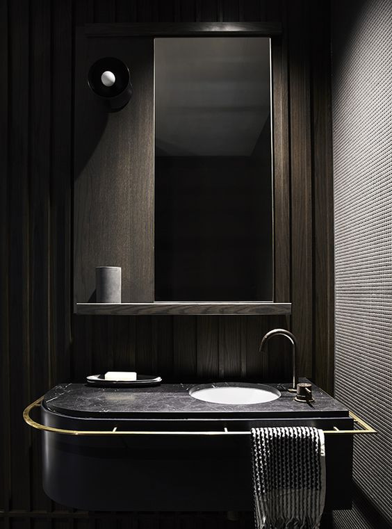 dark modern bathroom design